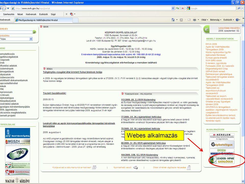 Webes alkalmazás