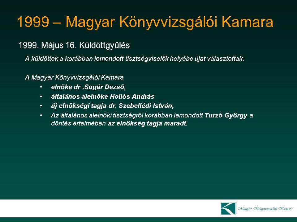 1999 – Magyar Könyvvizsgálói Kamara