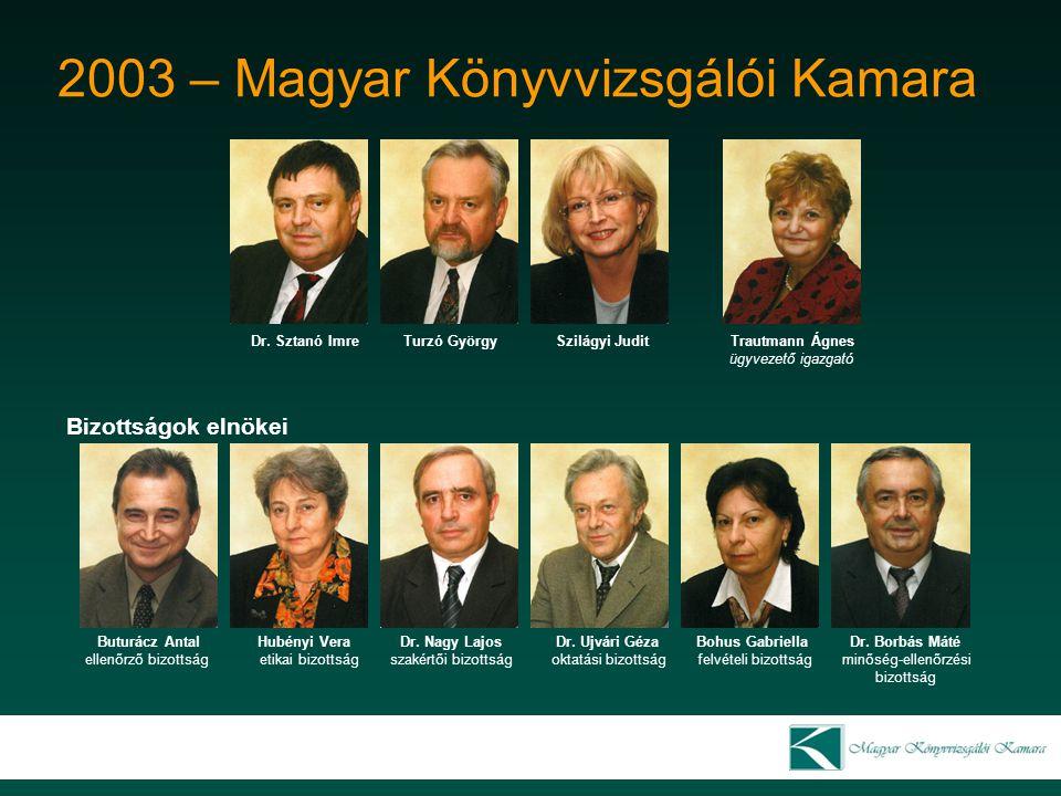 2003 – Magyar Könyvvizsgálói Kamara