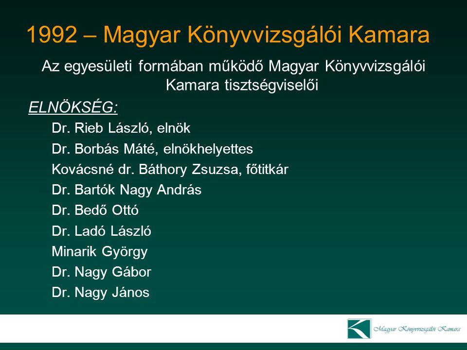 1992 – Magyar Könyvvizsgálói Kamara