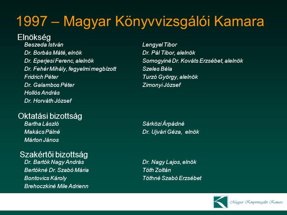 1997 – Magyar Könyvvizsgálói Kamara