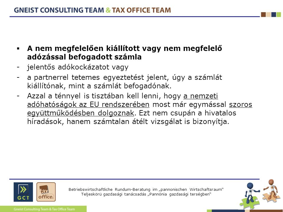 A nem megfelelően kiállított vagy nem megfelelő adózással befogadott számla