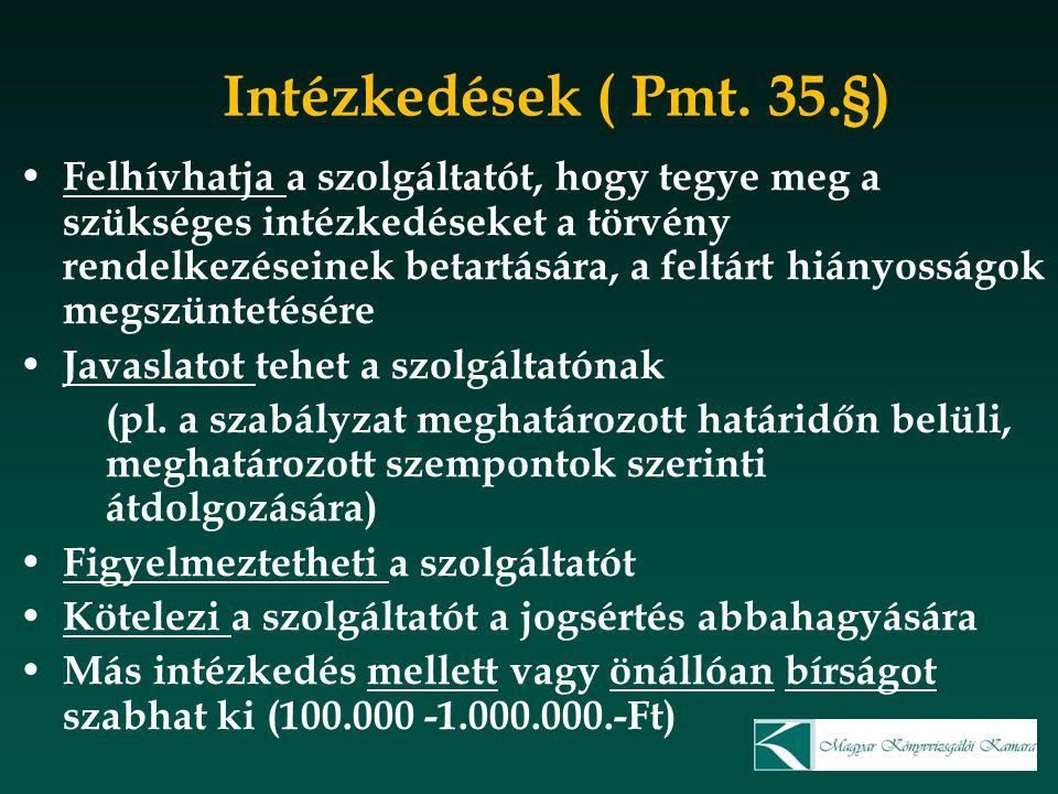 Intézkedések ( Pmt. 35.§)