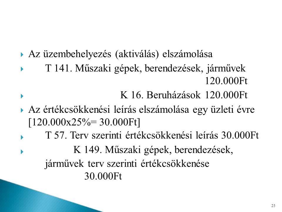 T 141. Műszaki gépek, berendezések, járművek 120.000Ft