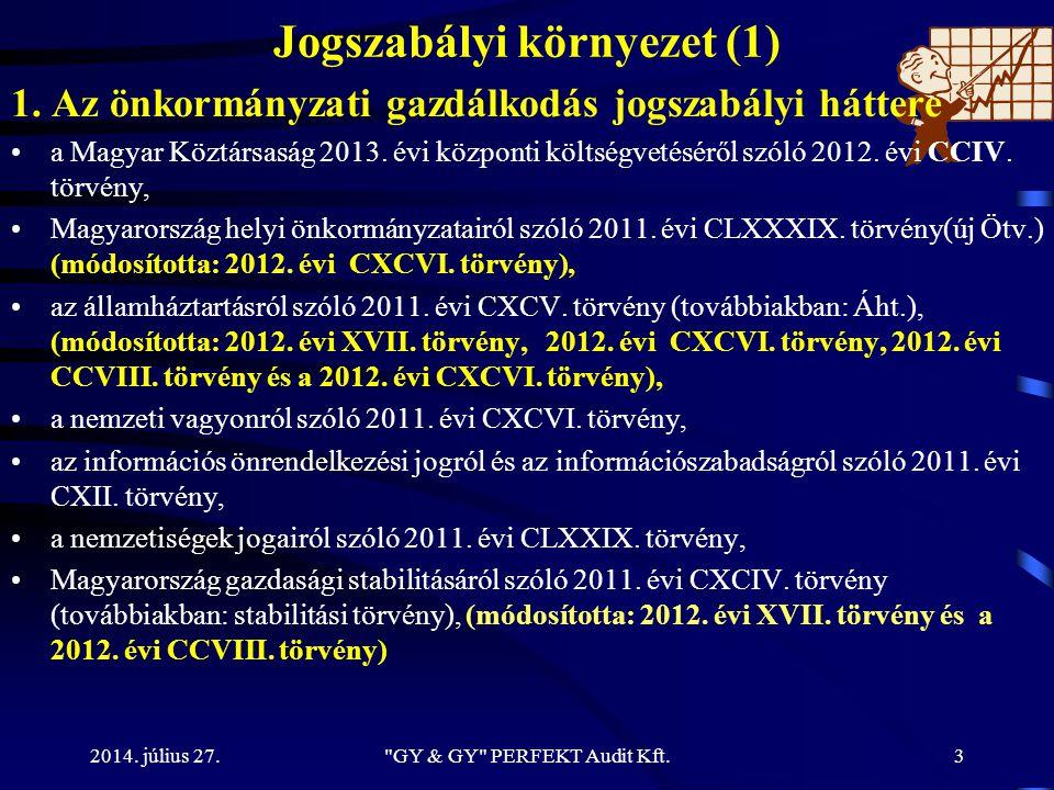 Jogszabályi környezet (1)