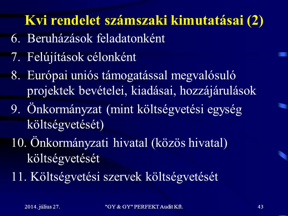 Kvi rendelet számszaki kimutatásai (2)