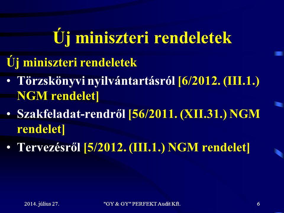 Új miniszteri rendeletek