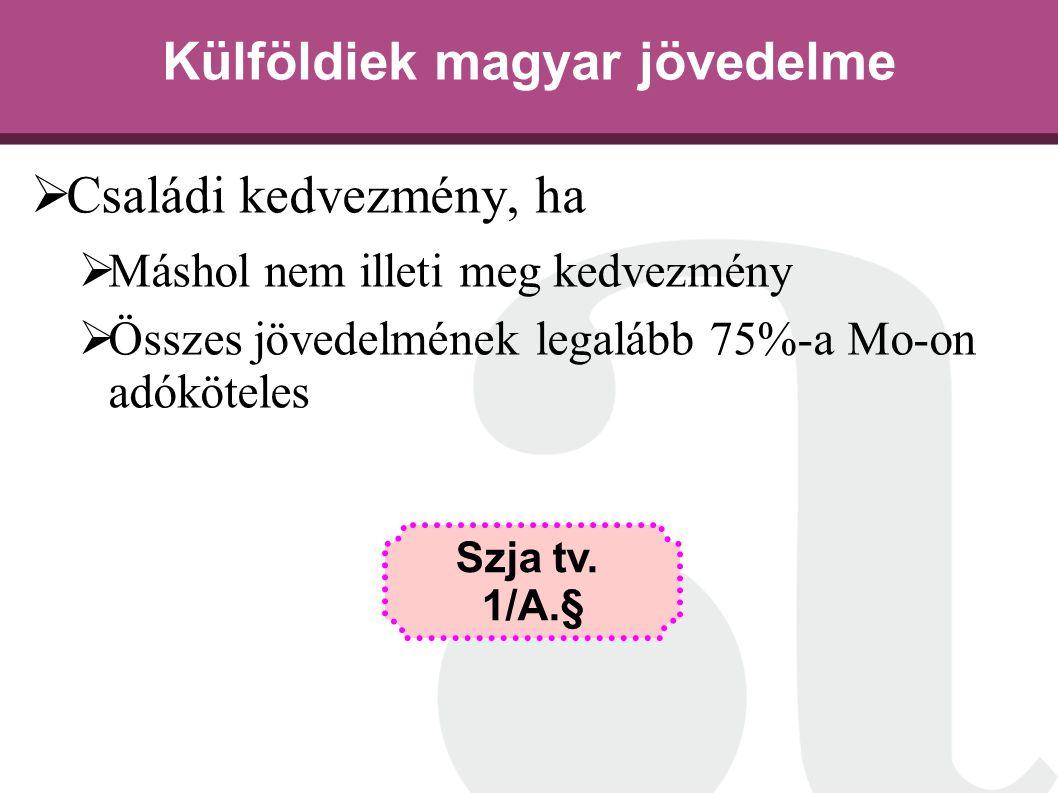 Külföldiek magyar jövedelme