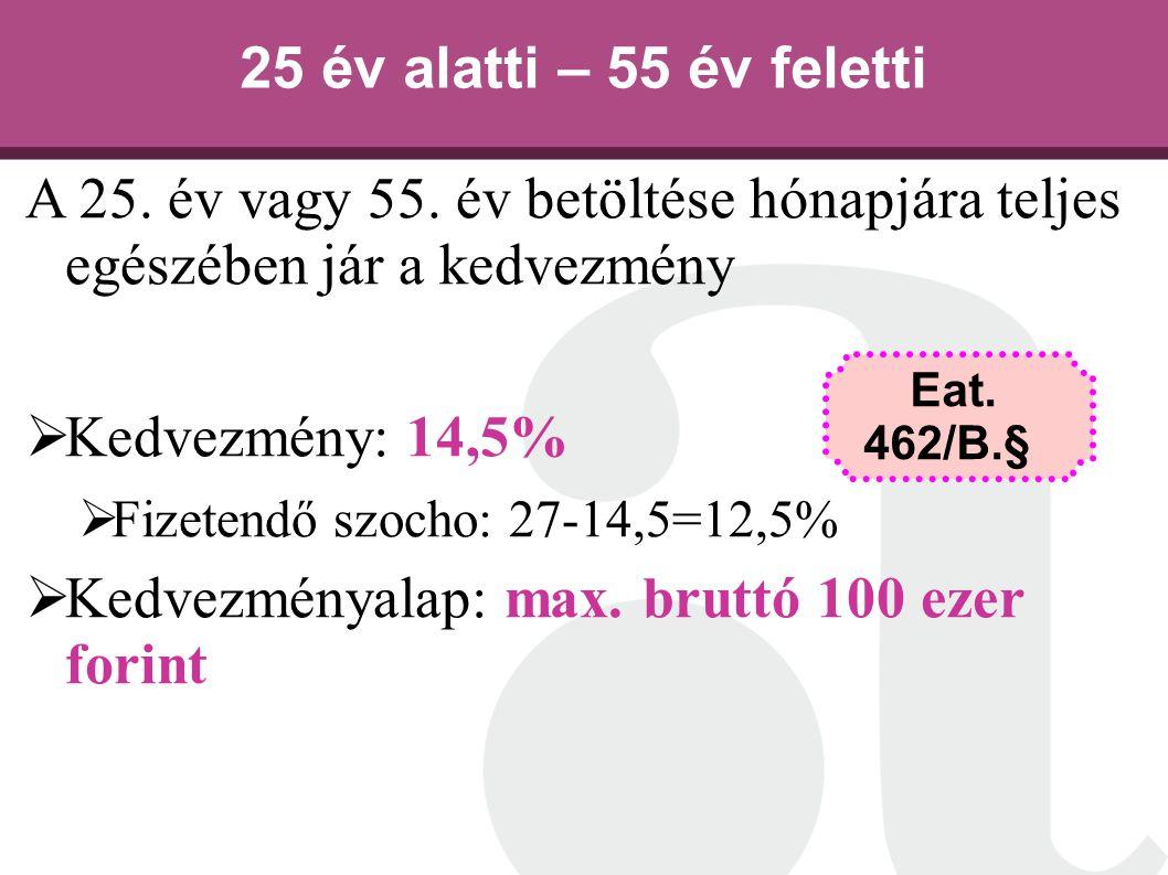 Kedvezményalap: max. bruttó 100 ezer forint