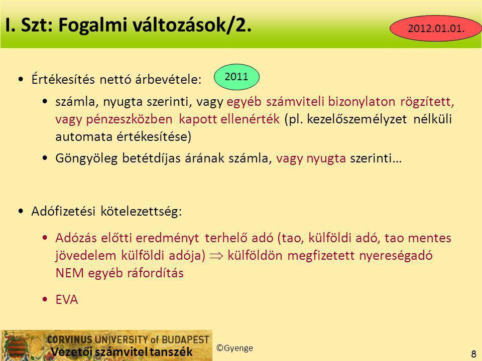I. Szt: Fogalmi változások/2.