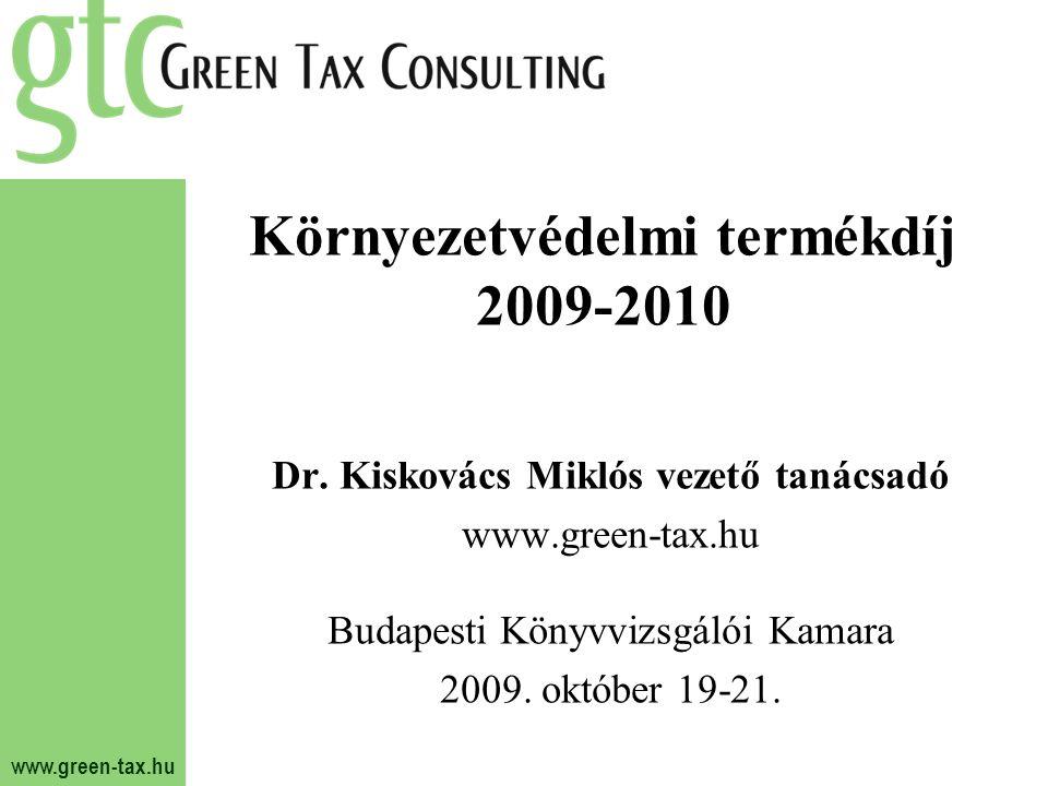 Környezetvédelmi termékdíj 2009-2010