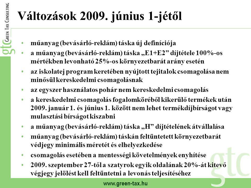Változások 2009. június 1-jétől