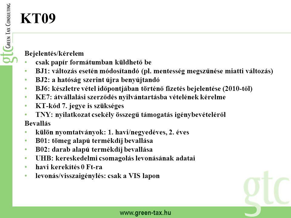 KT09 Bejelentés/kérelem csak papír formátumban küldhető be