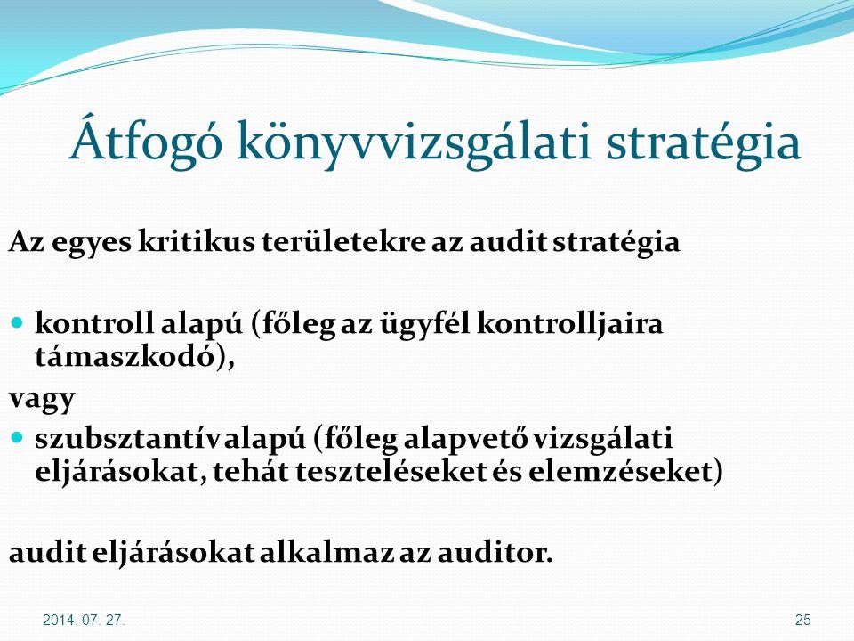 Átfogó könyvvizsgálati stratégia