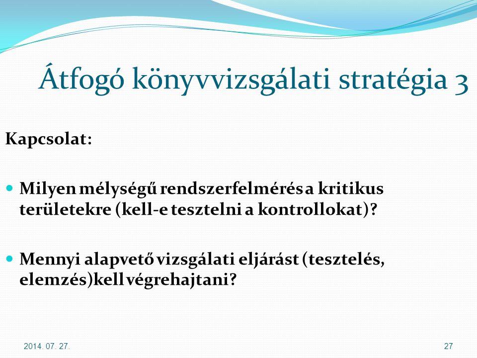 Átfogó könyvvizsgálati stratégia 3