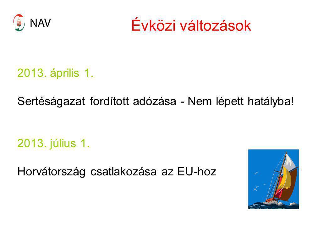 Évközi változások 2013. április 1.