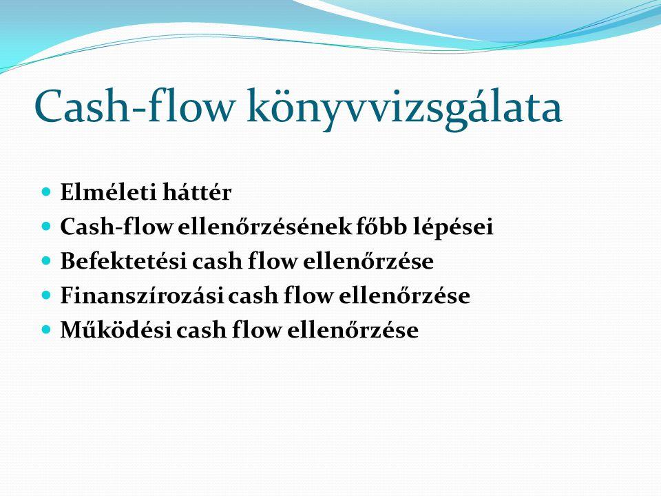 Cash-flow könyvvizsgálata