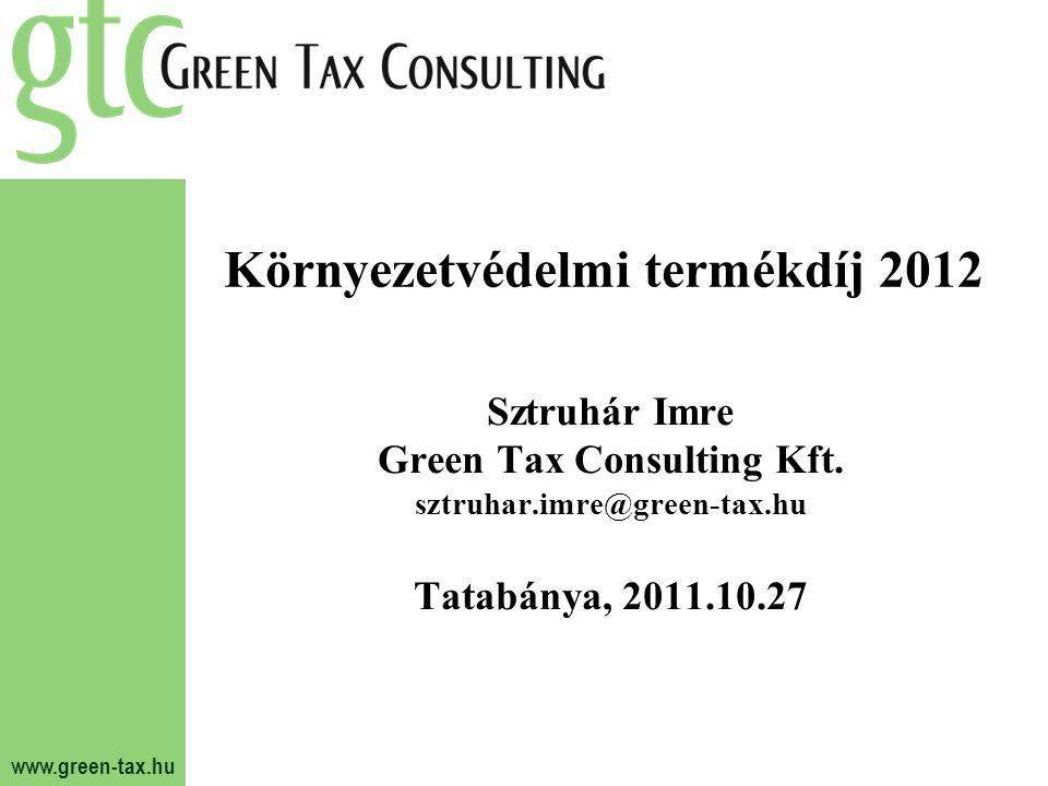 Környezetvédelmi termékdíj 2012