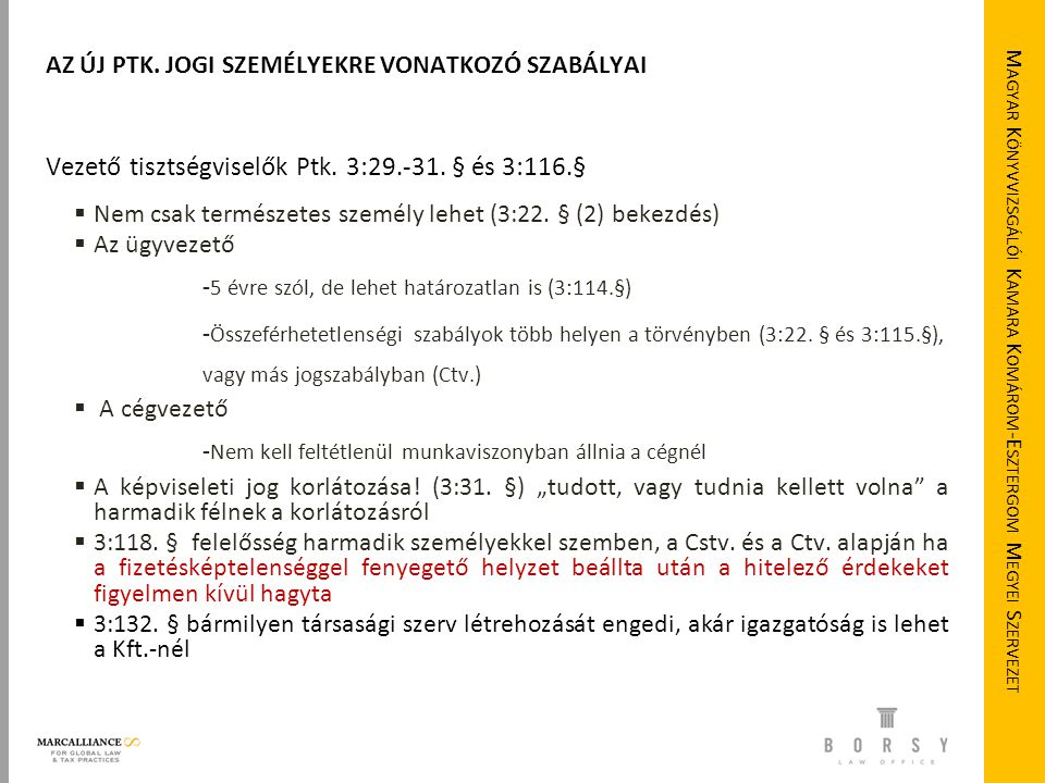 Magyar Könyvvizsgálói Kamara Komárom-Esztergom Megyei Szervezet
