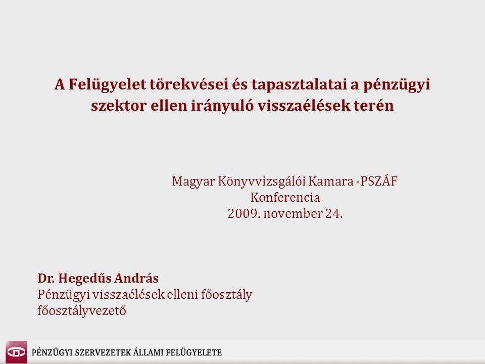 Magyar Könyvvizsgálói Kamara -PSZÁF Konferencia 2009. november 24.