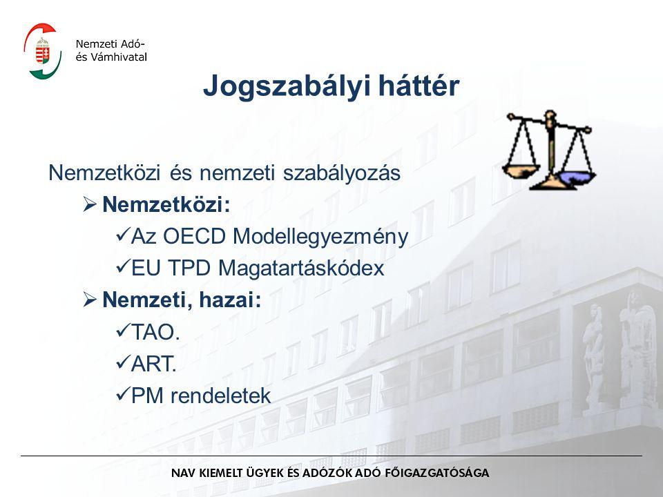Jogszabályi háttér Nemzetközi és nemzeti szabályozás Nemzetközi: