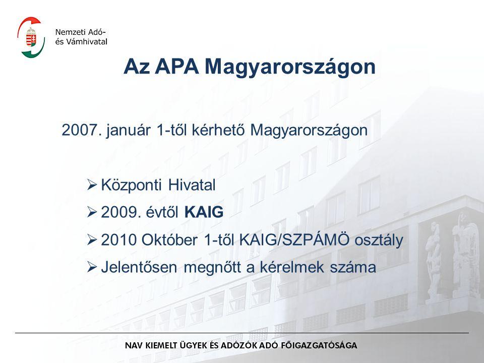 Az APA Magyarországon 2007. január 1-től kérhető Magyarországon