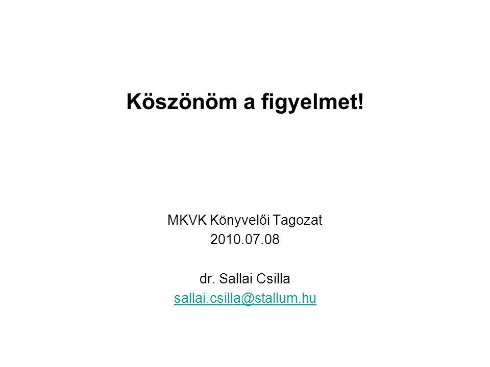 MKVK Könyvelői Tagozat