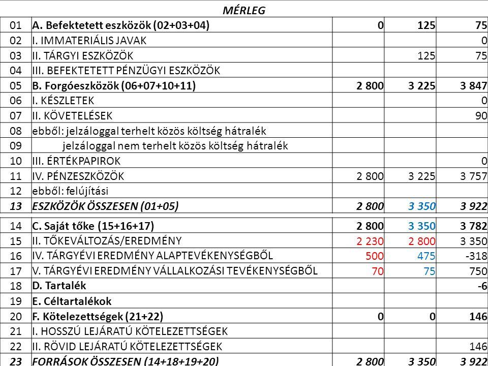 A. Befektetett eszközök (02+03+04) 125 75 02 I. IMMATERIÁLIS JAVAK 03