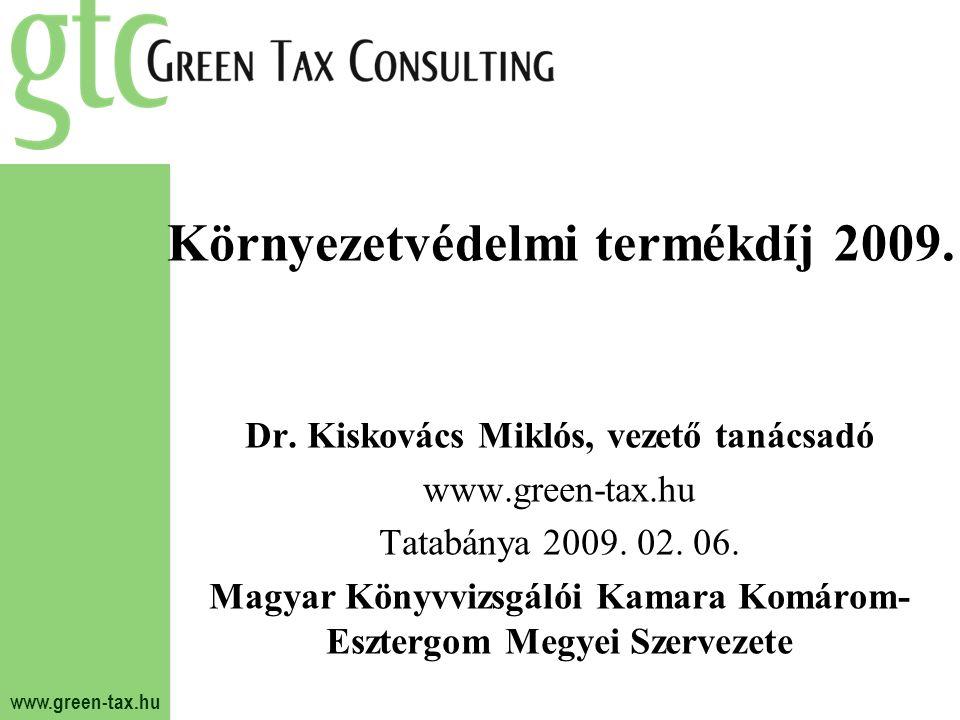 Környezetvédelmi termékdíj 2009.