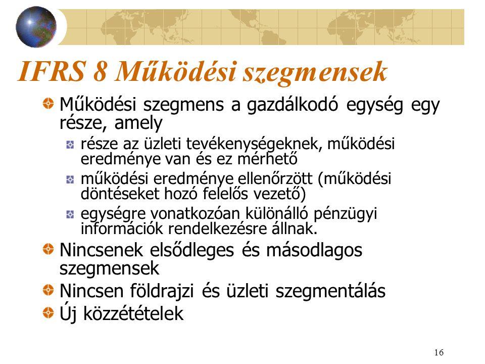 IFRS 8 Működési szegmensek