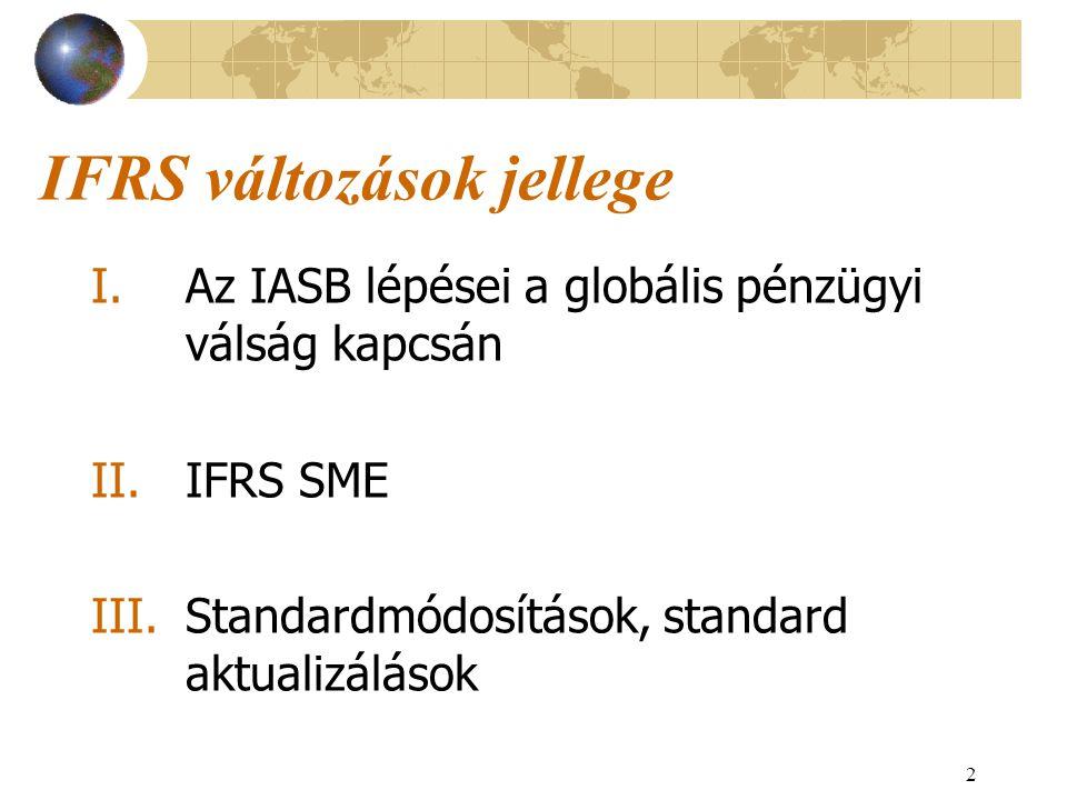 IFRS változások jellege
