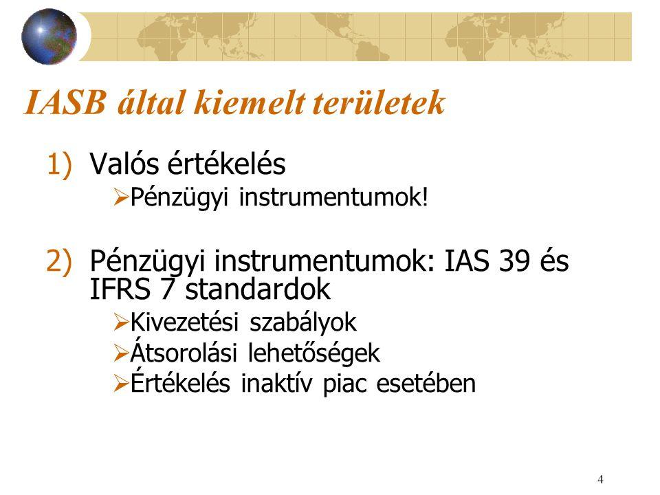 IASB által kiemelt területek