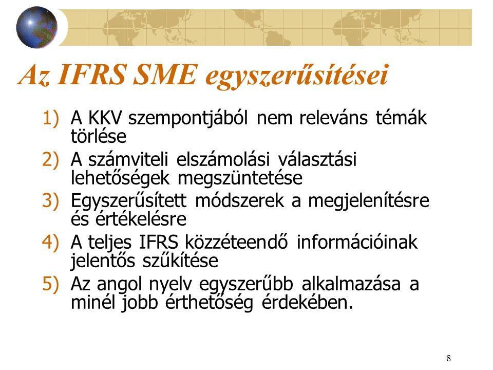Az IFRS SME egyszerűsítései