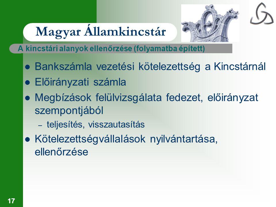Magyar Államkincstár Bankszámla vezetési kötelezettség a Kincstárnál