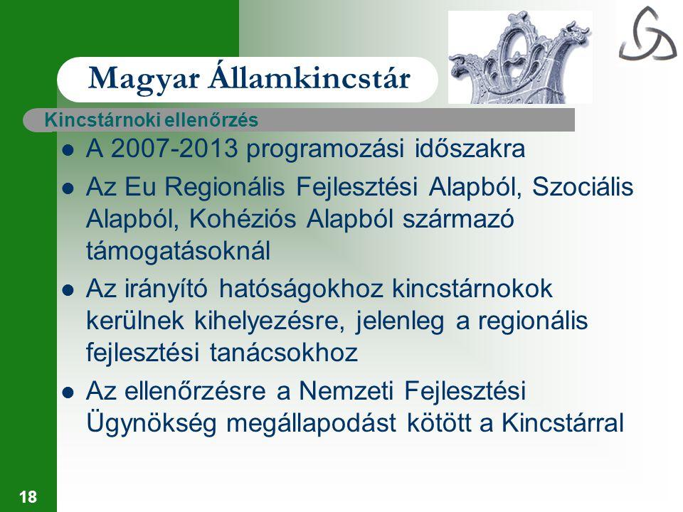 Magyar Államkincstár A 2007-2013 programozási időszakra