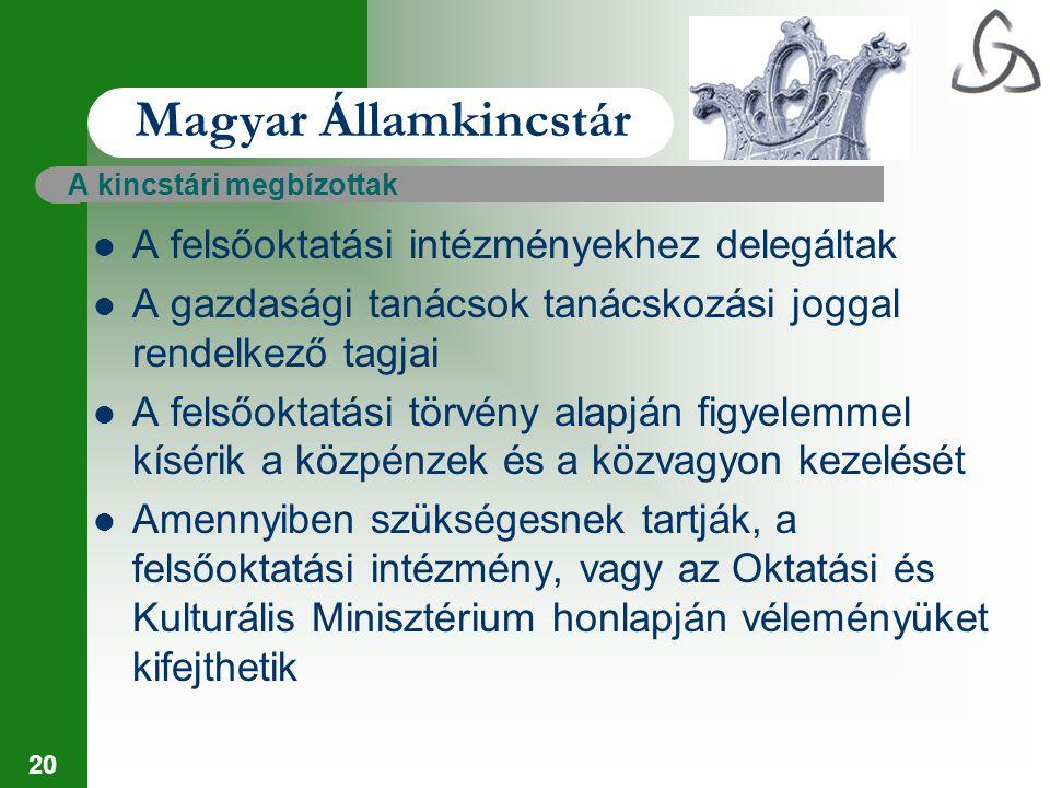 Magyar Államkincstár A felsőoktatási intézményekhez delegáltak