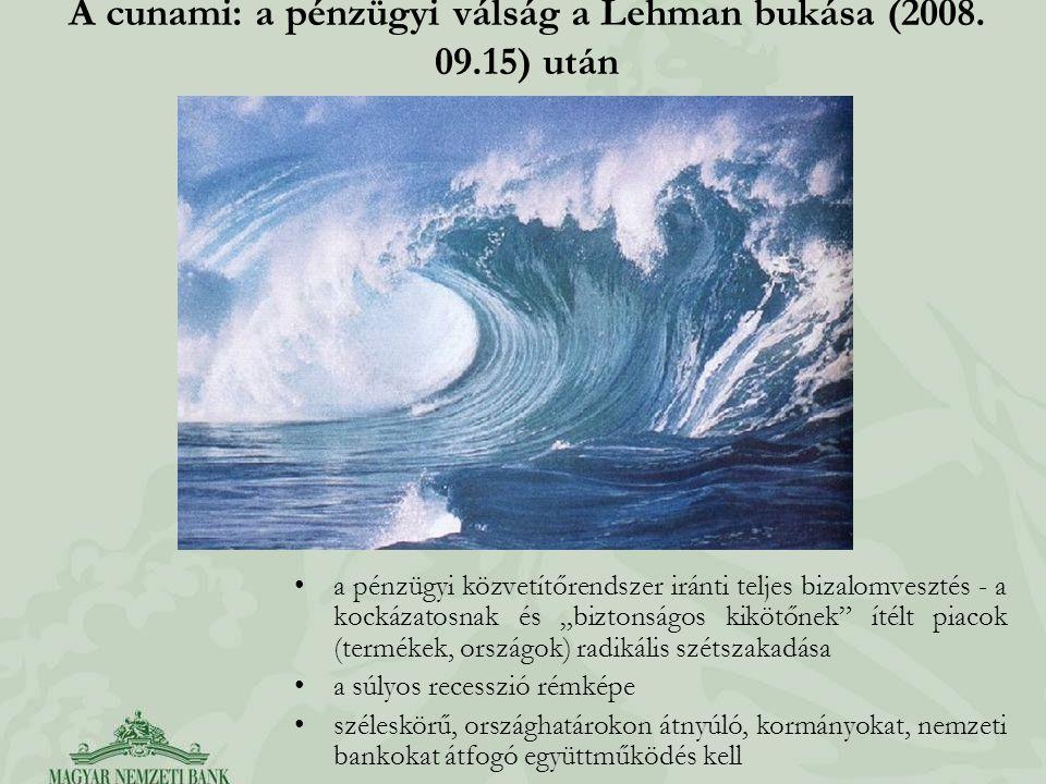 A cunami: a pénzügyi válság a Lehman bukása (2008. 09.15) után