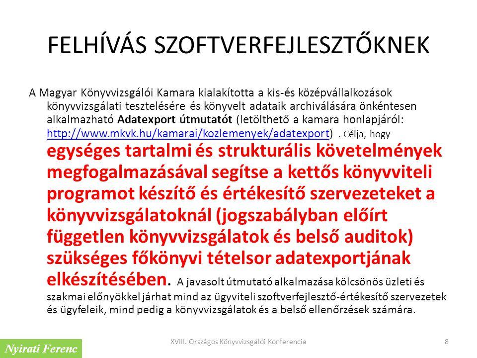 FELHÍVÁS SZOFTVERFEJLESZTŐKNEK