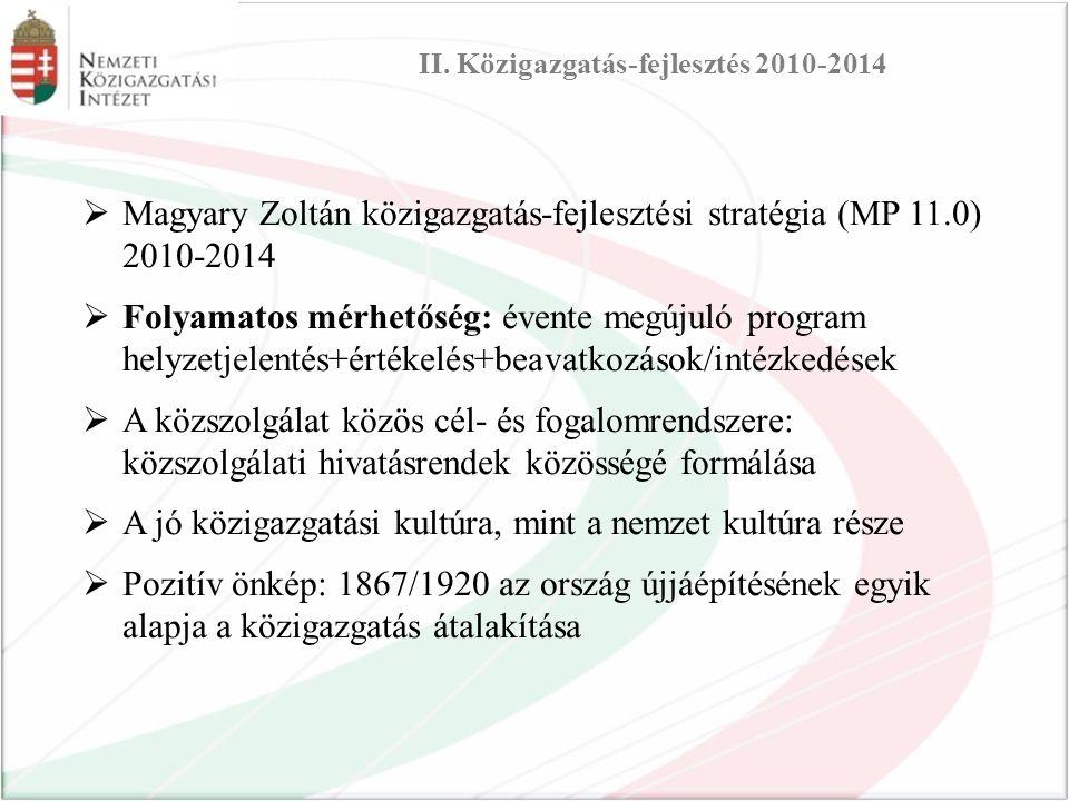II. Közigazgatás-fejlesztés 2010-2014