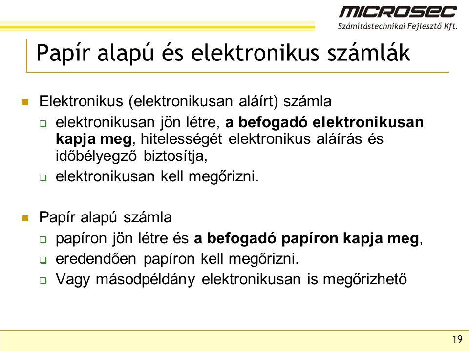 Papír alapú és elektronikus számlák