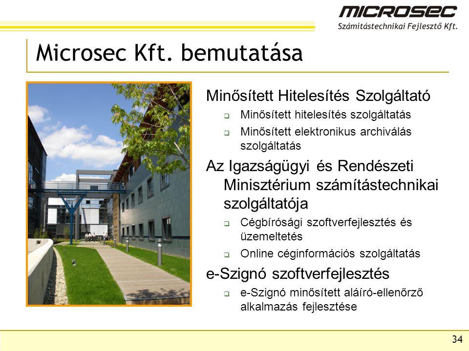 Microsec Kft. bemutatása