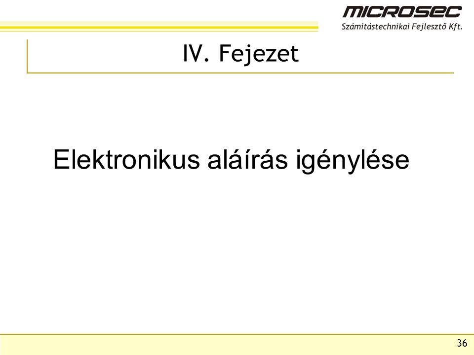 Elektronikus aláírás igénylése