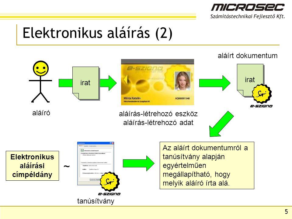 Elektronikus aláírás (2)