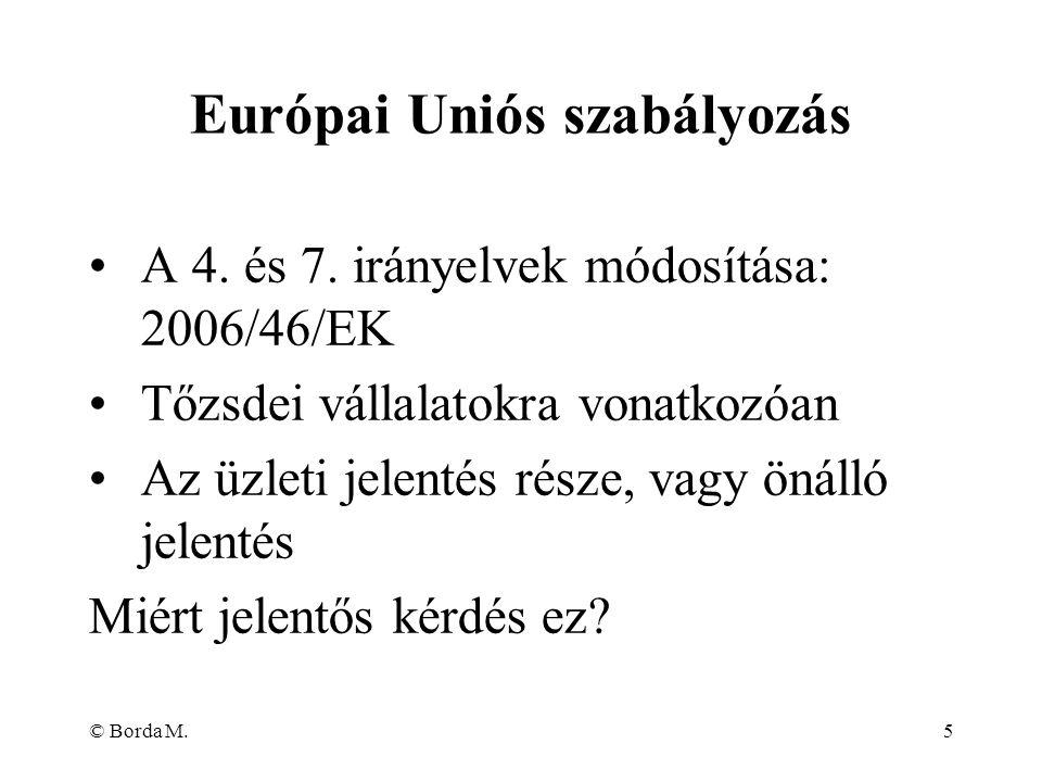 Európai Uniós szabályozás