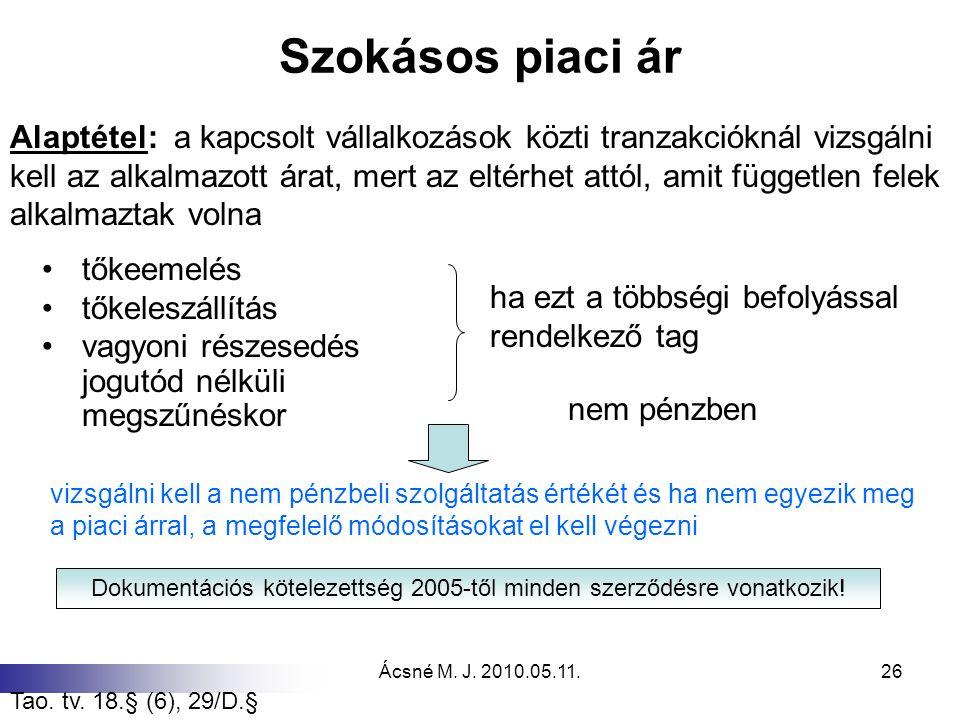 Dokumentációs kötelezettség 2005-től minden szerződésre vonatkozik!