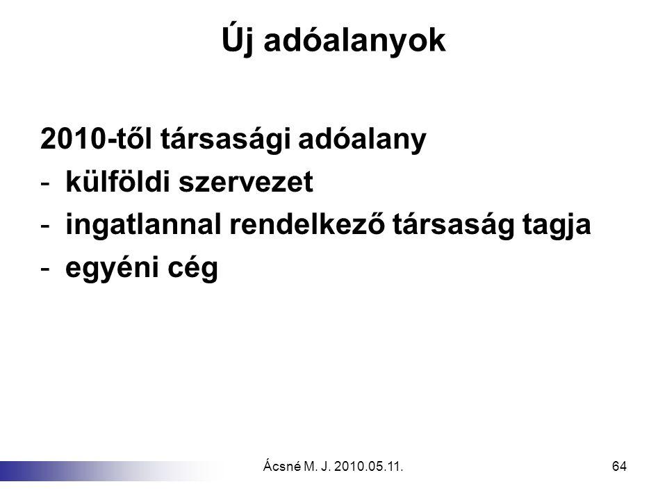 Új adóalanyok 2010-től társasági adóalany külföldi szervezet