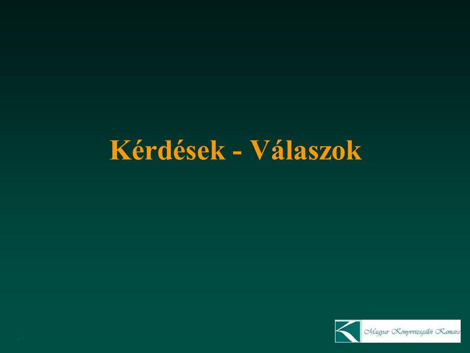 Kérdések - Válaszok MKVK Minőségellenőrzési bizottság