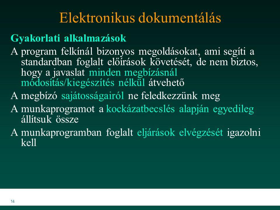 Elektronikus dokumentálás