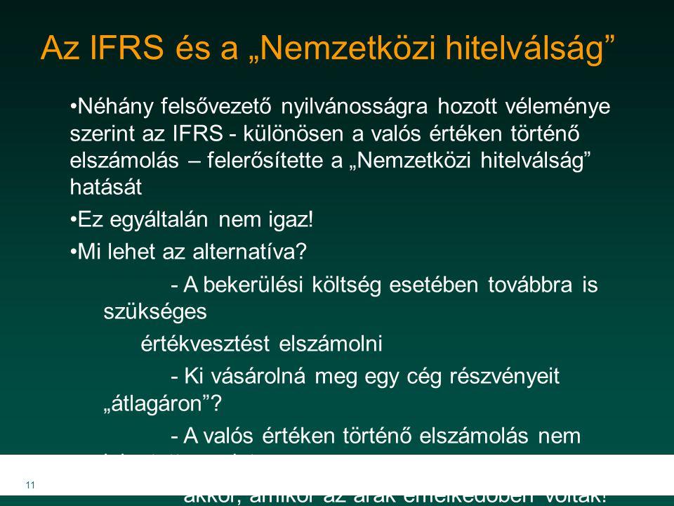 """Az IFRS és a """"Nemzetközi hitelválság"""