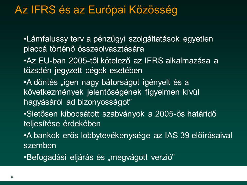 Az IFRS és az Európai Közösség